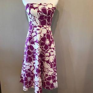 Strapless floral JCrew dress